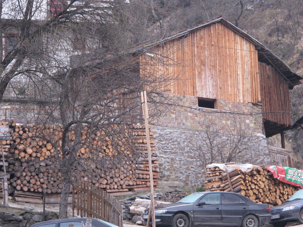 IMG_2873  Wood is a primary heat source in the villages.  Shiroka Laka, Bulgaria.  © Evelyn Weliver