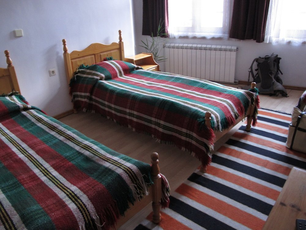 IMG_2828  Our room is comfortable and has typical Bulgarian colors. Hotel Kalina, Shiroka Laka, Bulgaria.  © Evelyn Weliver