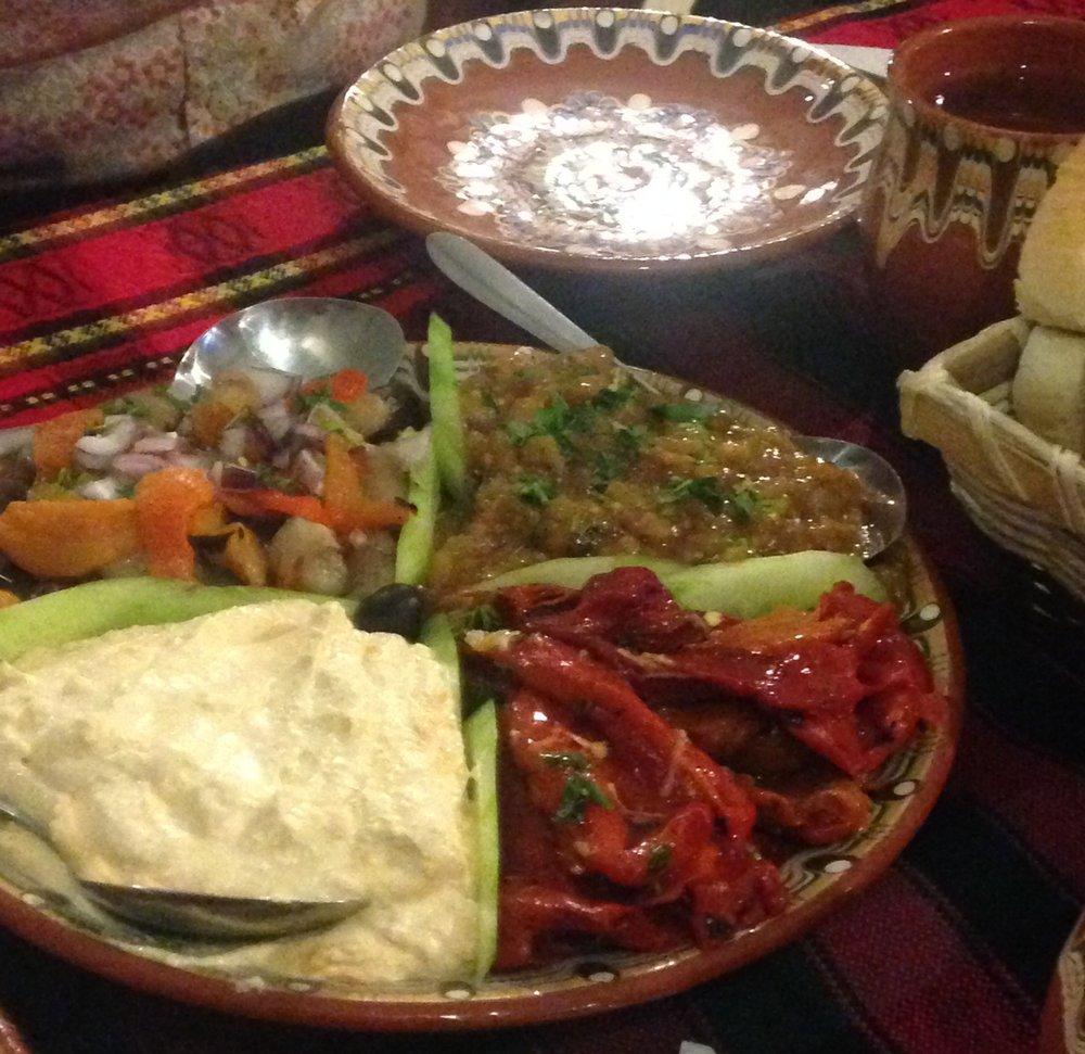 IMG_4382.  Dinner appetizers. Hotel Kalina, Shiroka Laka, Bulgaria. © A. Palichev