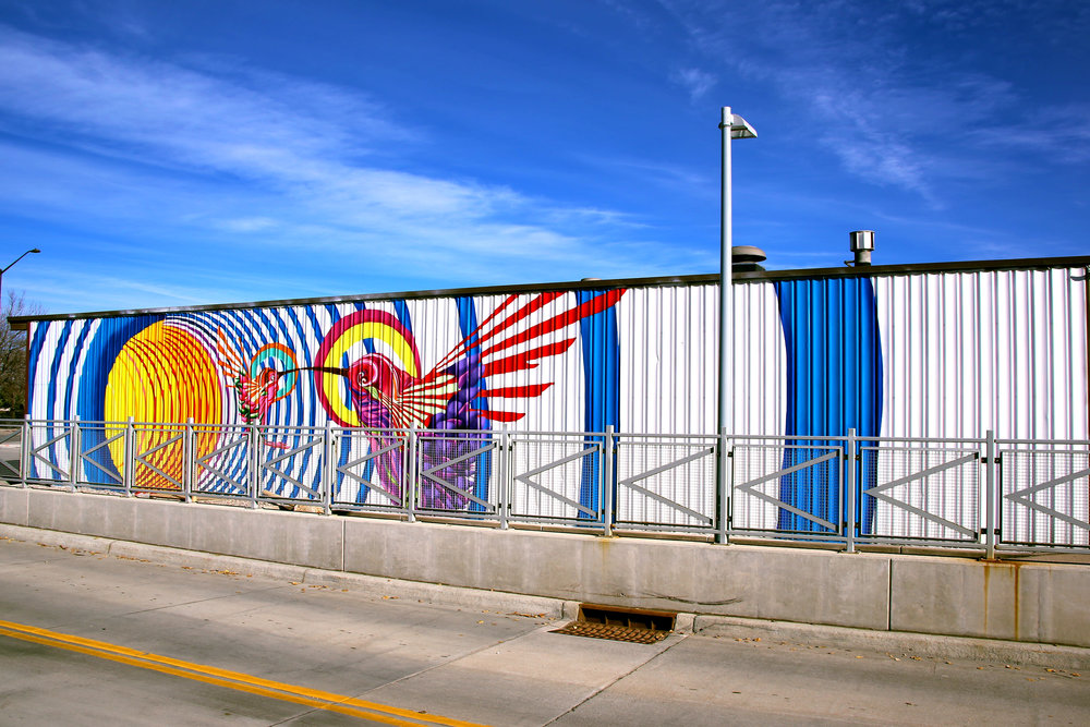 Mural by Bobby Lopez. West side of Chippers Lane North. Horsetooth and College.