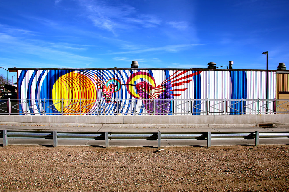 Mural by  Bobby Magee Lopez   Chippers Lanes North  217 W Horsetooth Rd  2017