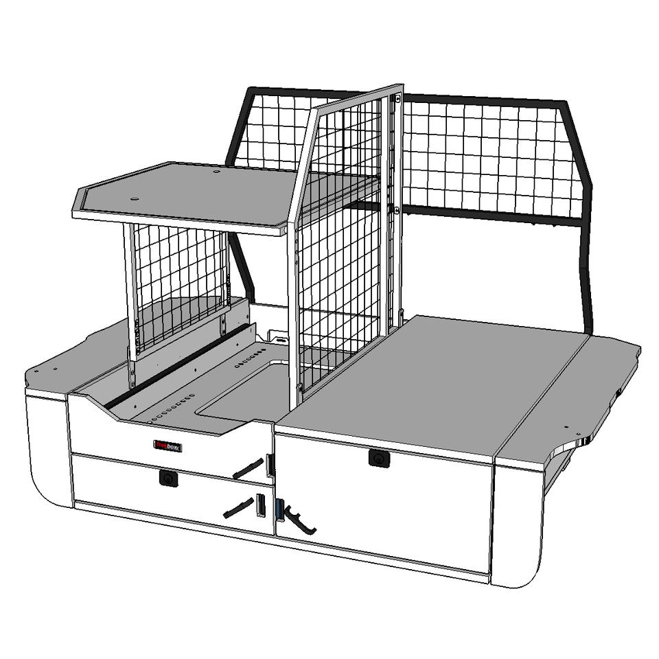 Cargo Barrier shown in black