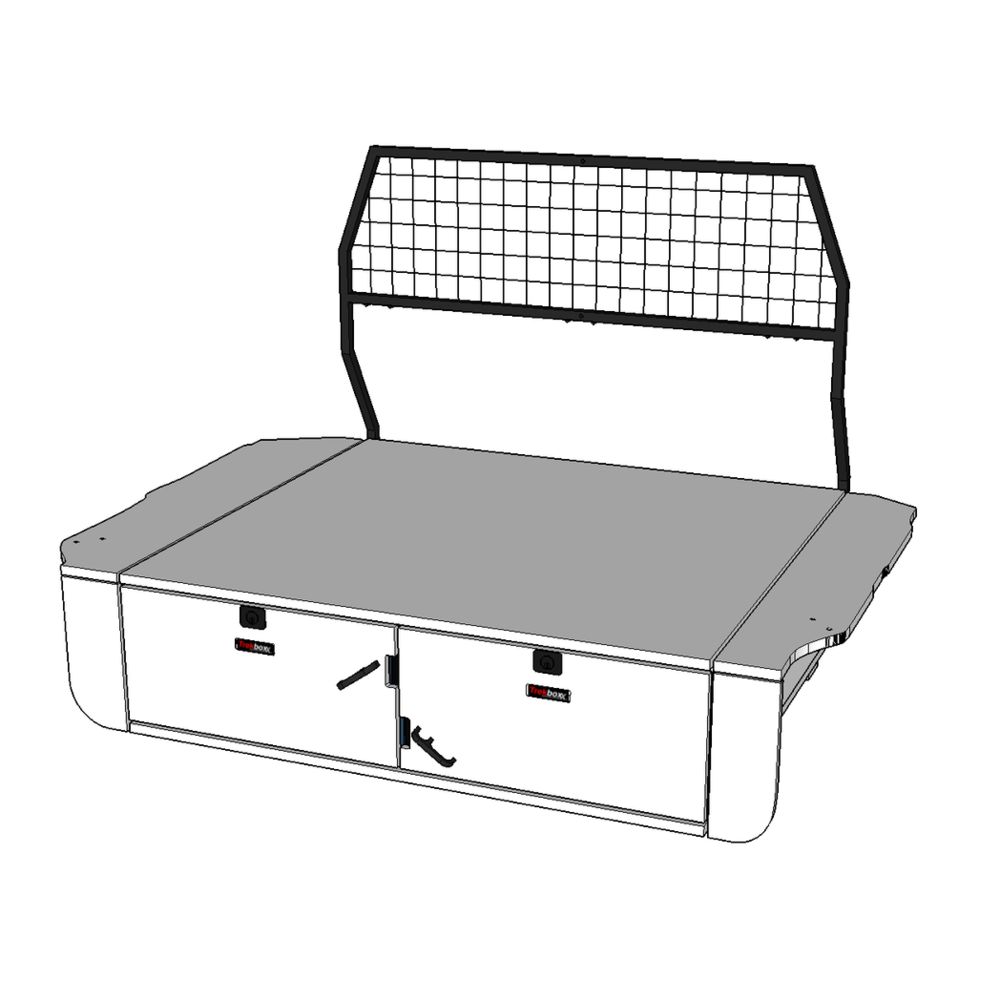 Cargo Barrier shown in black