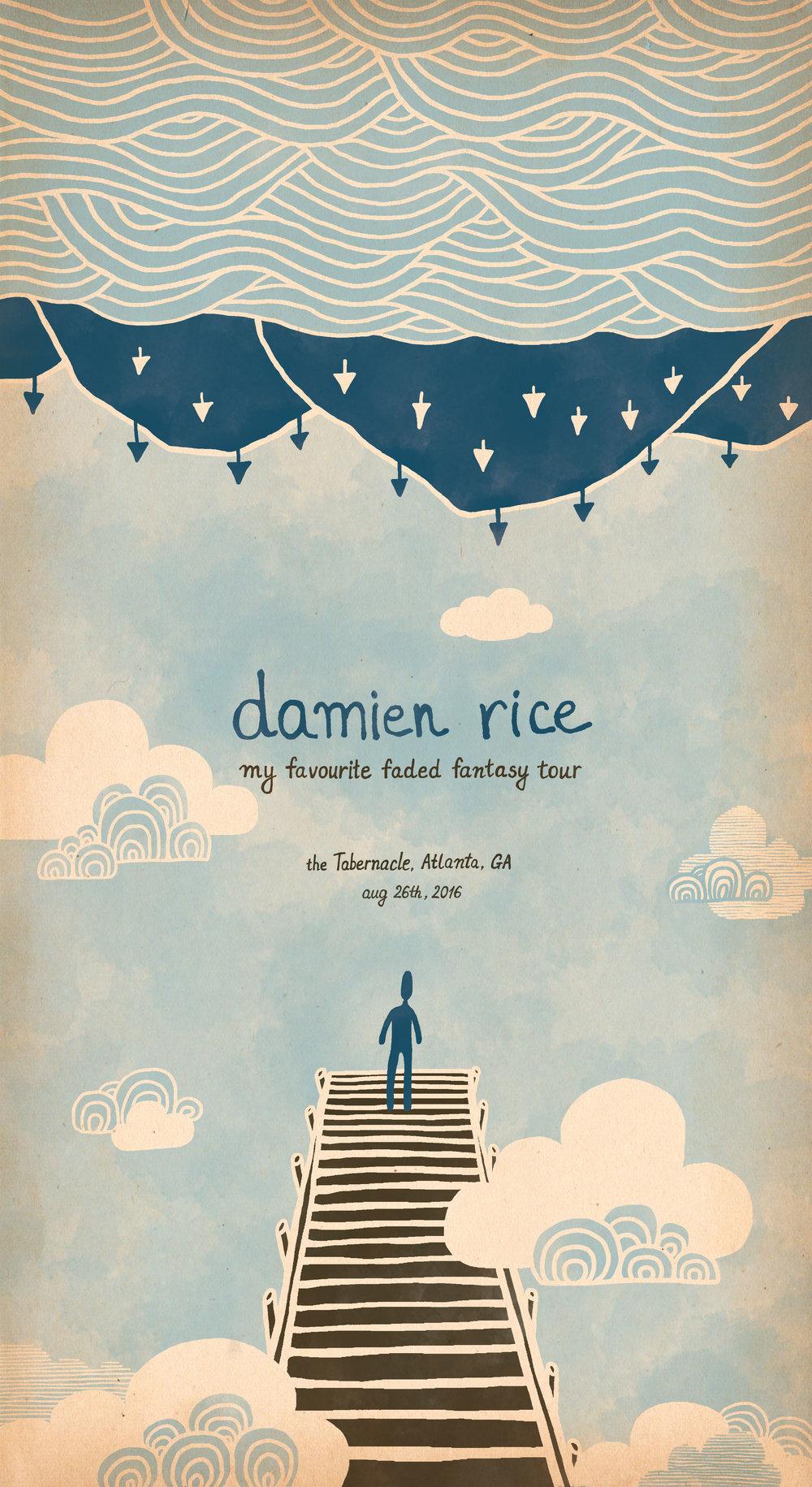 Damien Rice Concert Tour Poster