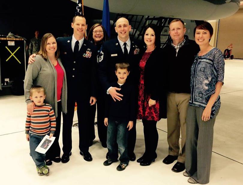 Senior Master Sergeant AJ Leighty's (Center) retirement ceremony.