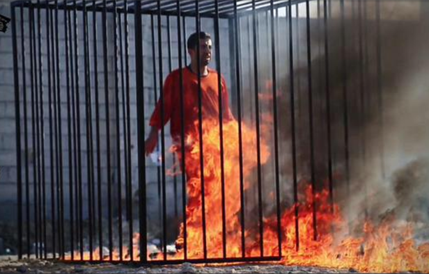 Captured Jordanian pilot Maaz al-Kassabeh was burned alive by ISIS.