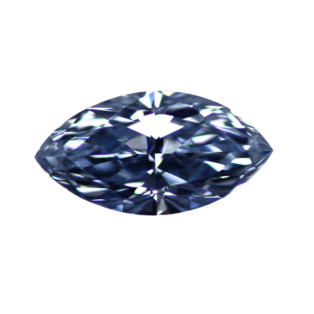 FANCY INTENSE BLUE - MARQUISE CUT  LOOSE  DIAMOND