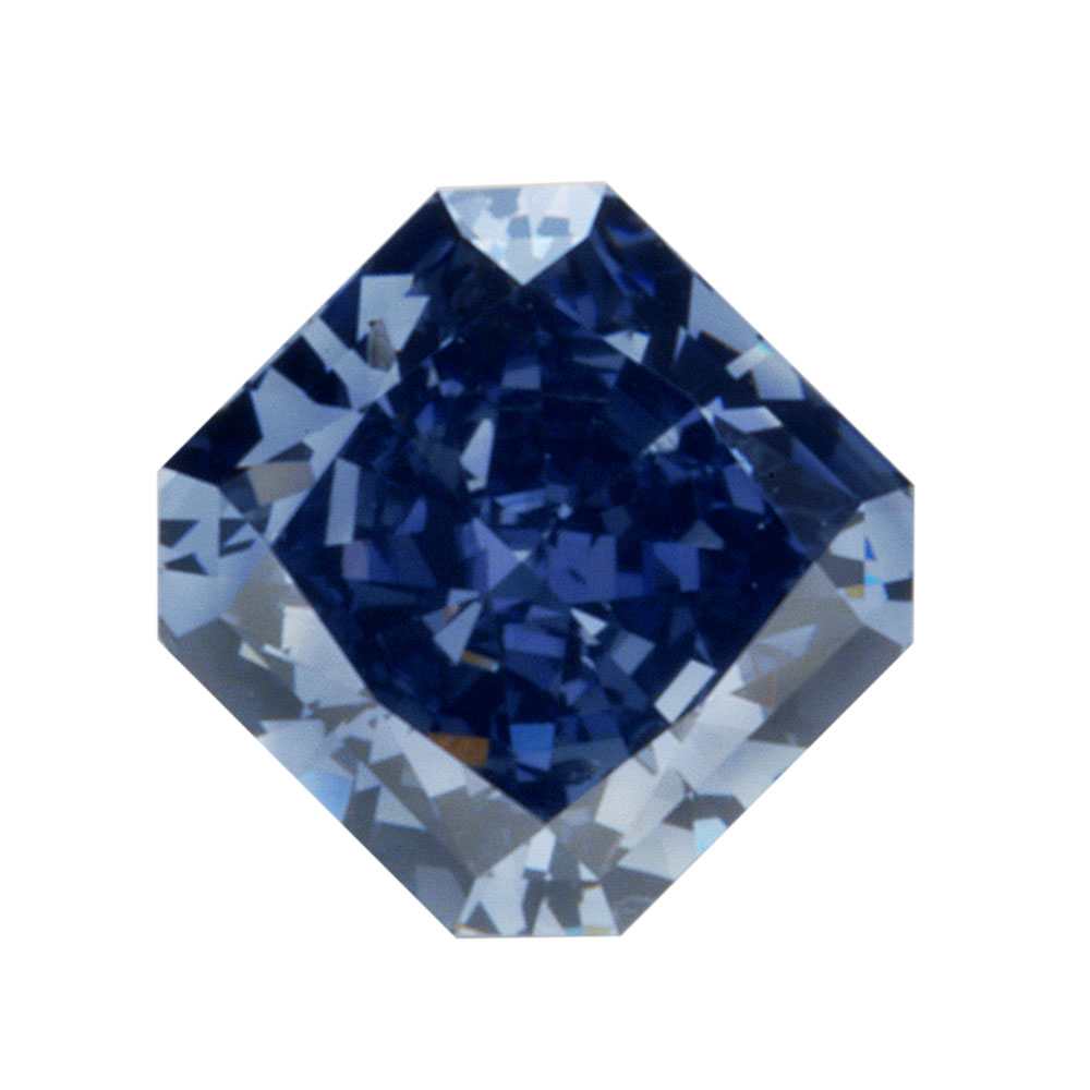 FANCY VIVID BLUEISH VIOLET - RADIANT CUT LOOSE DIAMOND