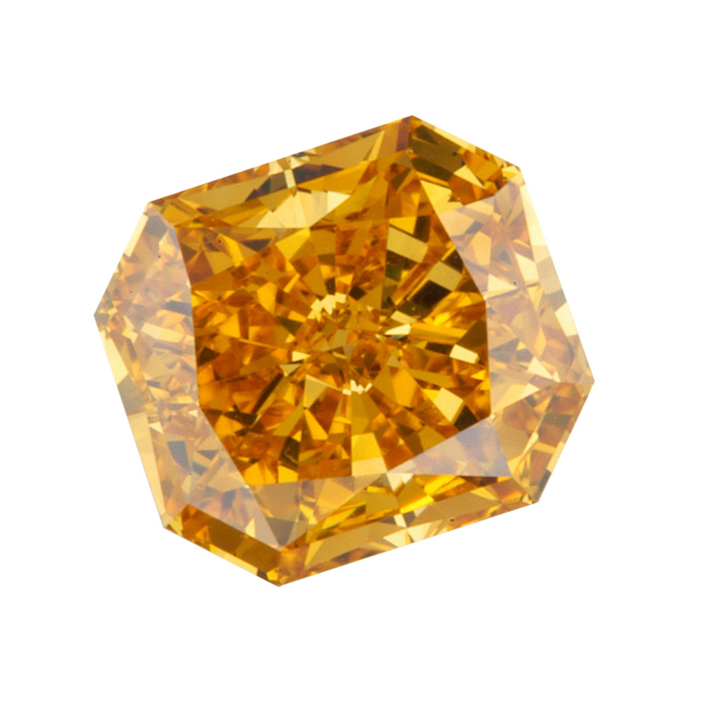 FANCY VIVID ORANGE - RADIANT CUT  LOOSE  DIAMOND