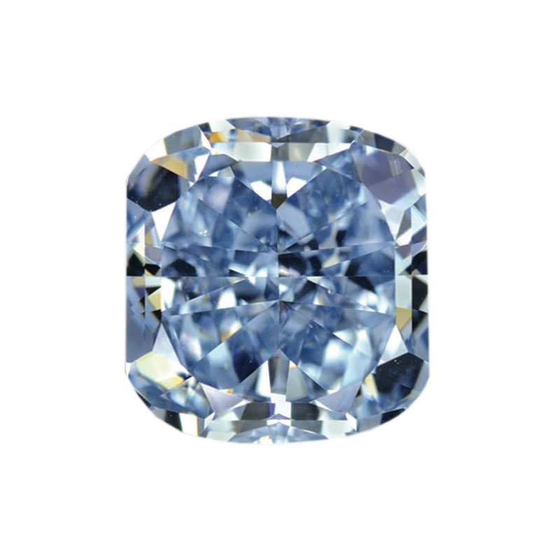 FANCY BLUE CUSHION CUT LOOSE DIAMOND