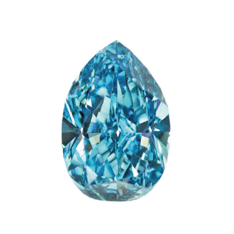 FANCY VIVID GREEN BLUE - PEAR CUT  LOOSE  DIAMOND