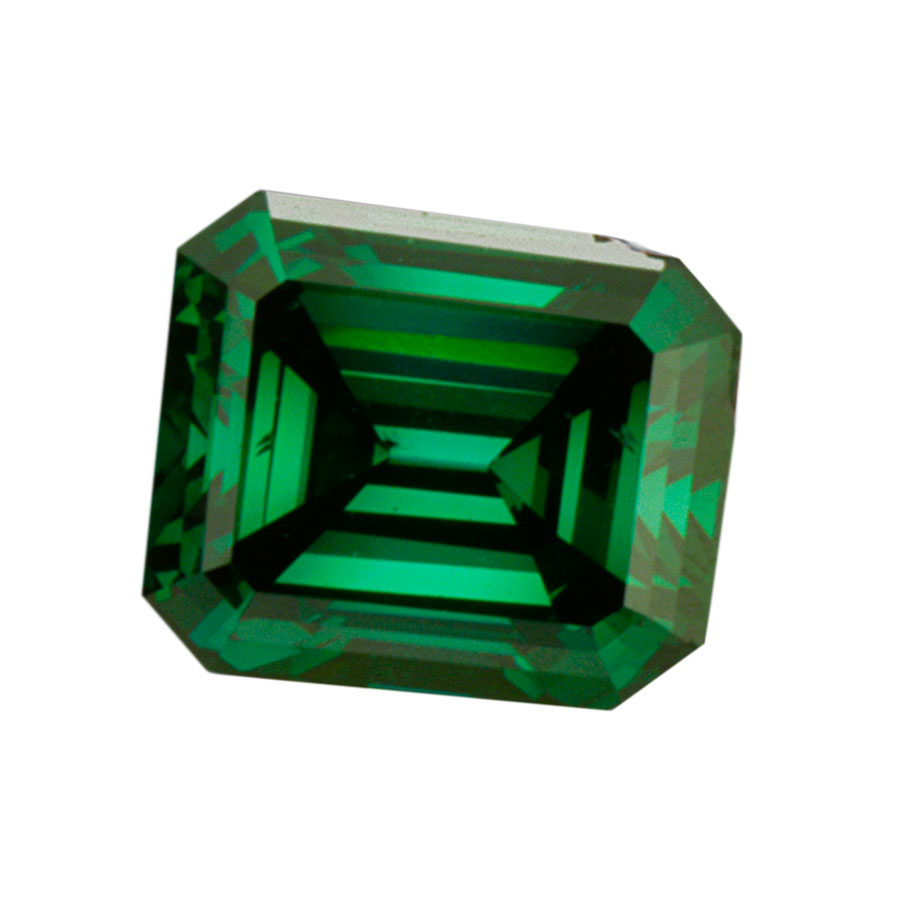 FANCY VIVID GREEN - EMERALD CUT  LOOSE  DIAMOND