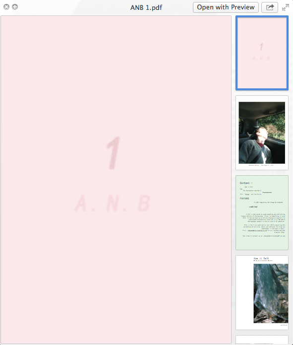 My first attempt to create a zine