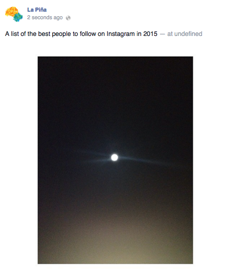 Example, All the best people to follow on Instagram in 2015