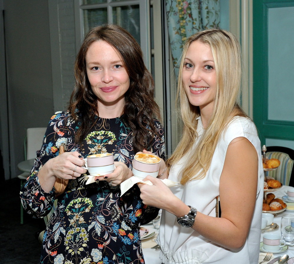 Monica and Andy launch in New York at Laduree Soho in New York, NY.