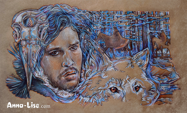 John Snow drawing by Anna-Lise