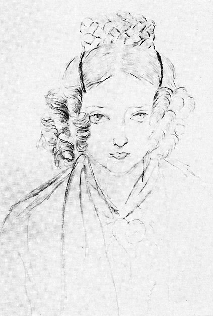 Queen Victoria Self Portrait from 1835