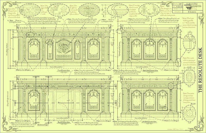 Resolute Desk Blueprint