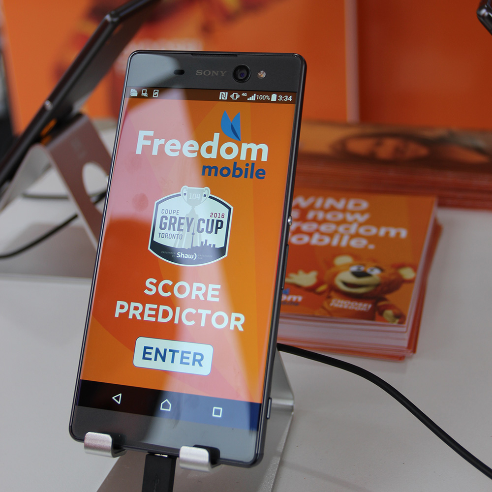 Score Predictor Application<strong>Freedom Mobile</strong>