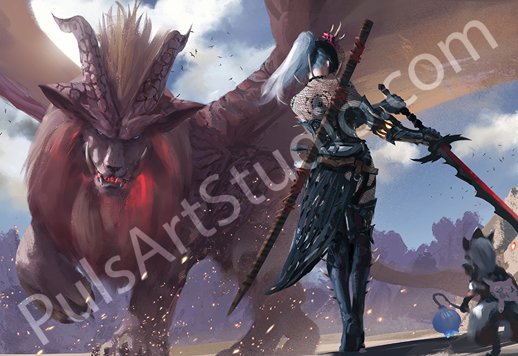 Monster Hunter: Teostra (avail. as mat)