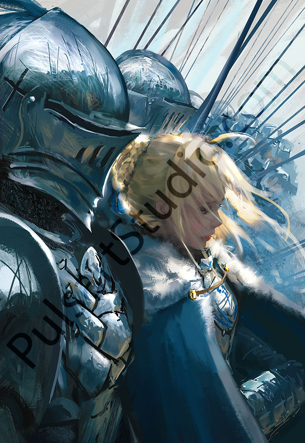 Fate: Saber and Lancelot