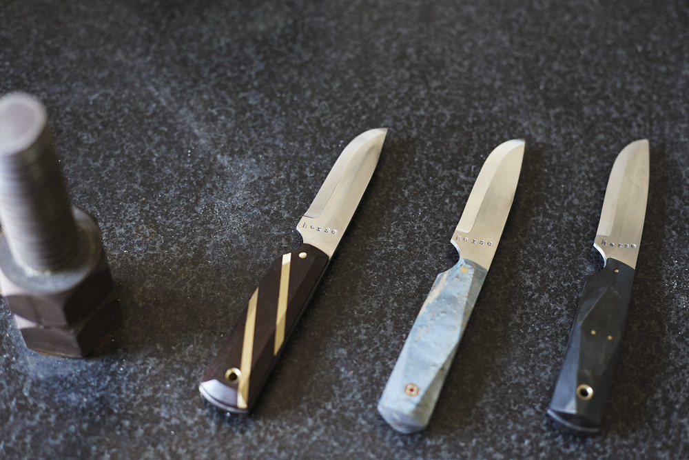 Thomas's last make: knives.