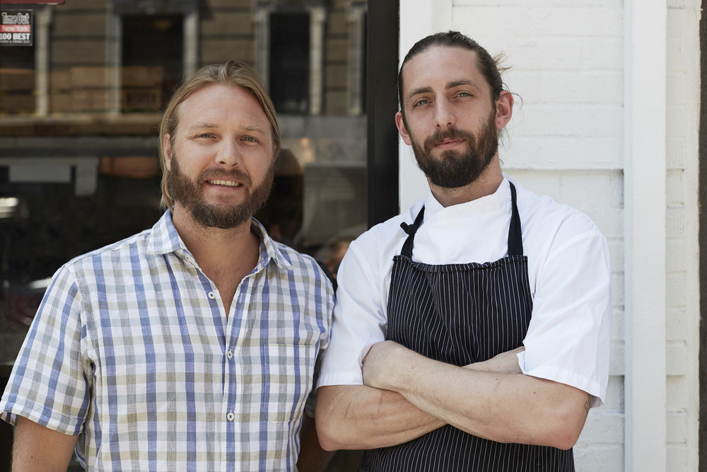 Jeff and Kevin, Head Chef at Root&Bone