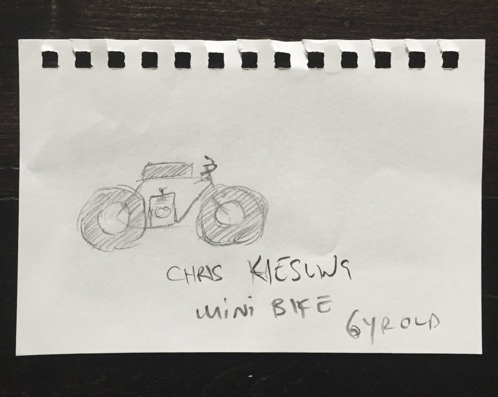 Chris's First Make: Mini-Bike, Age 6.