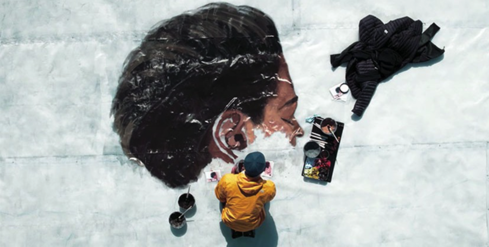 THE NORTH FACE x HULA Mural painted in the Arctic waters of Iqaluit. Courtesy of Camp4Collective.