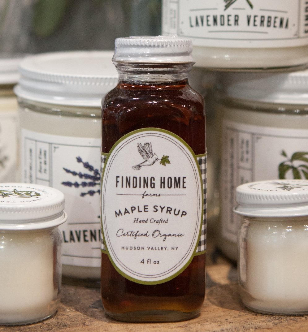 Finding Home Farms' Maple Syrup.