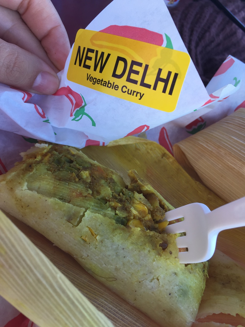Vegetable Curry tamal apx. 5$