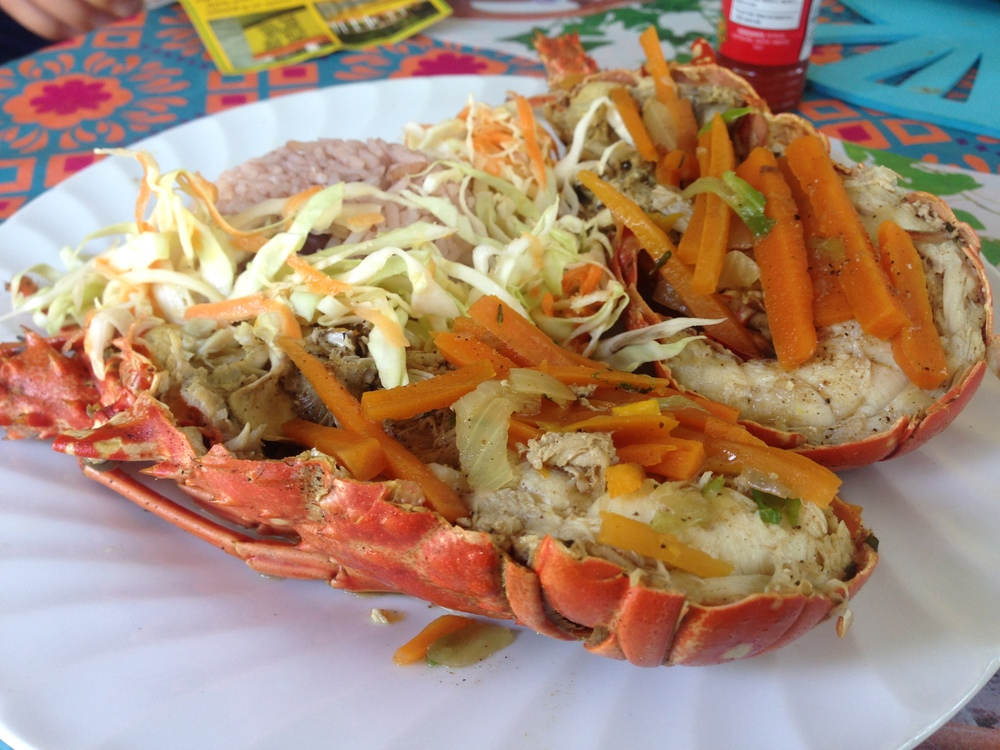 Lobster in Negril, Jamaica $30