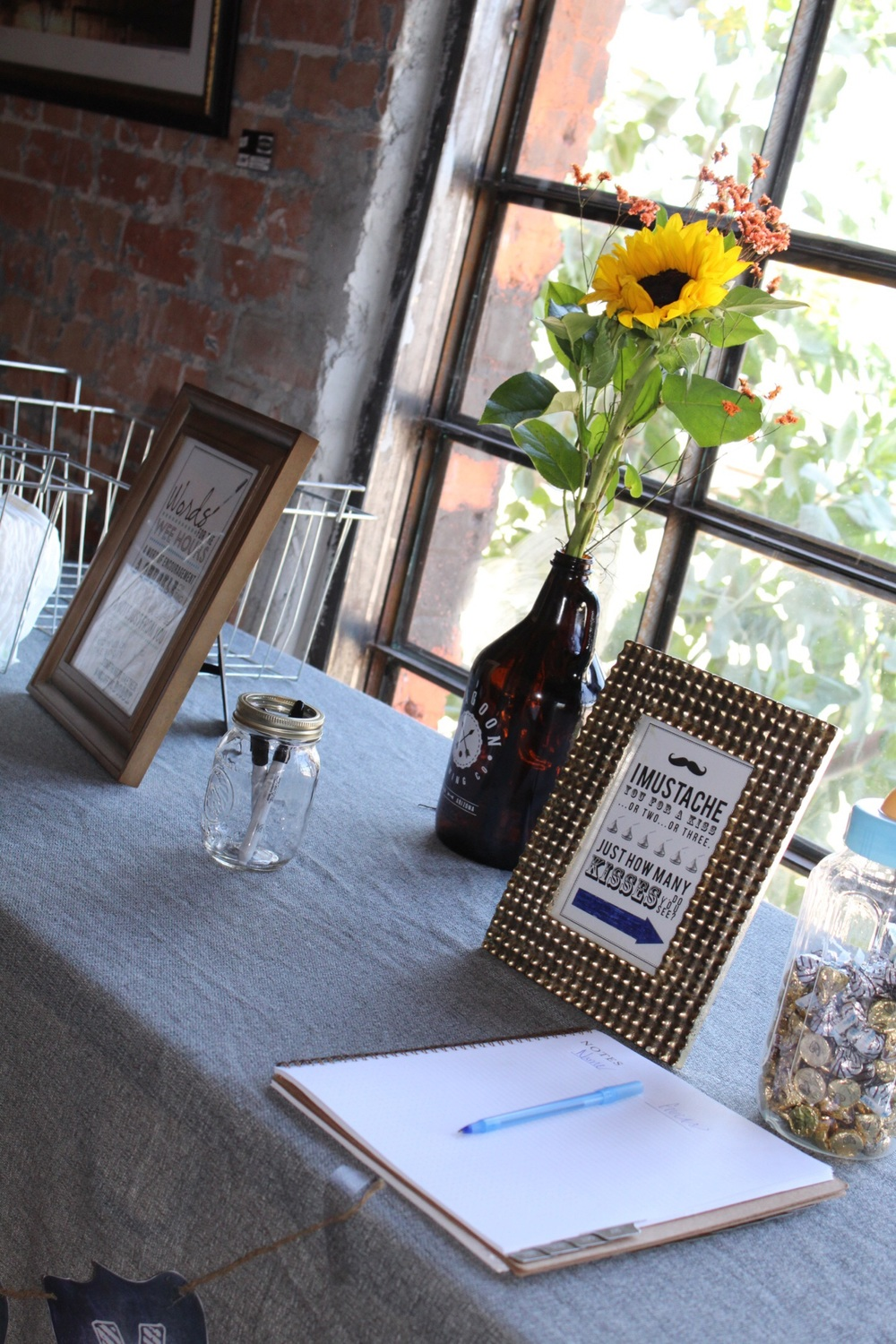 Brewery table decor