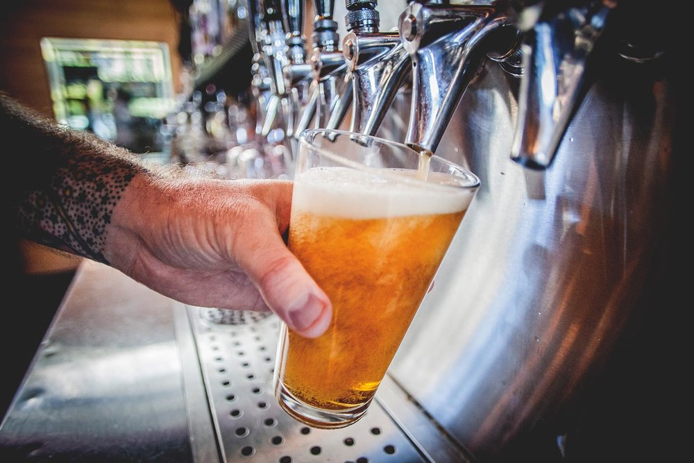 Rotating Craft Beers On Tap