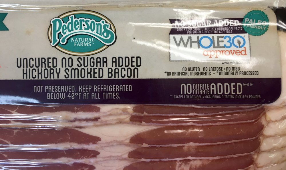 sugar free bacon / whole 30 approved!