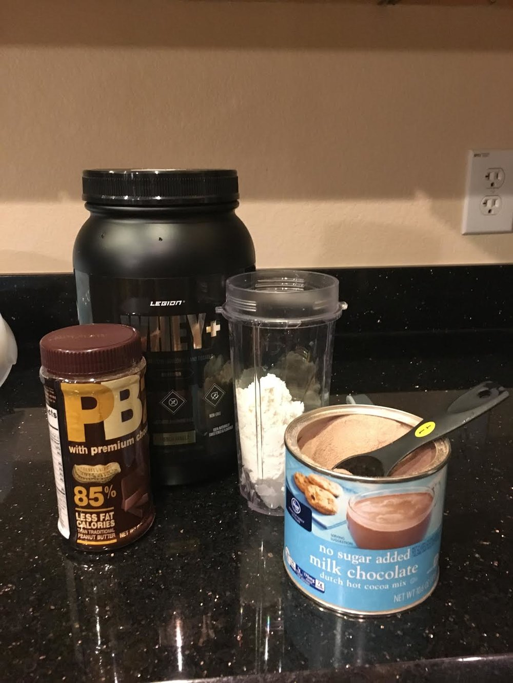 Use PB2 powder rather than real peanut butter to save on calories and fat. It tastes exactly the same... dare I even say, better.