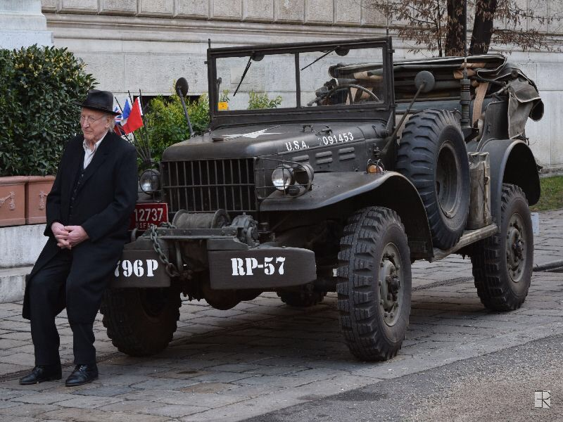 "Karl Merkatz sitting on our Dodge WC-57 Command Car at the shoot of his latest movie ""Kleine große Simmte"" (2015) during a pause."