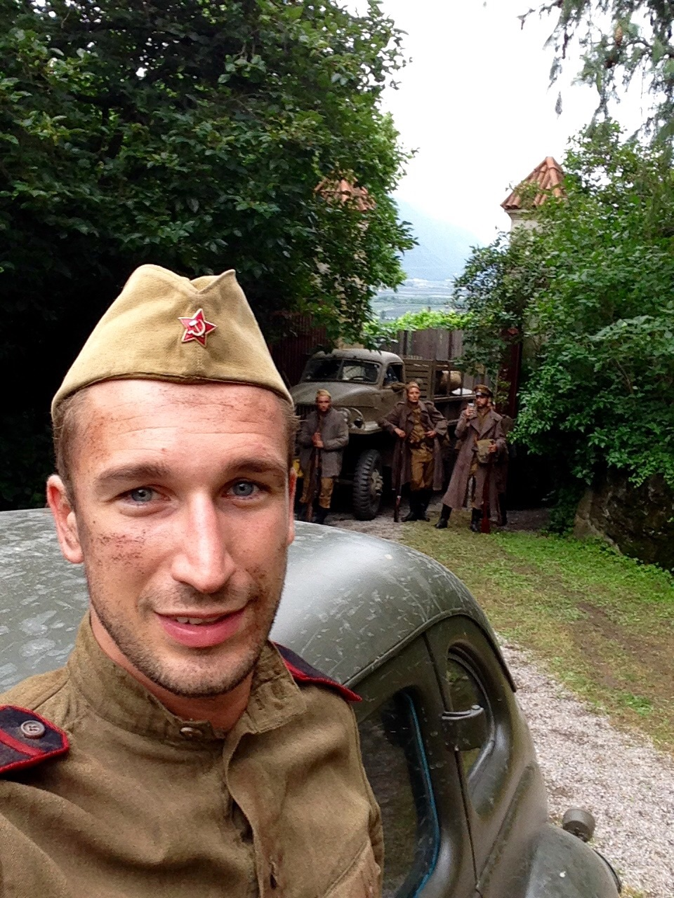 "Taking a selfie with the Russian ""soldiers"""