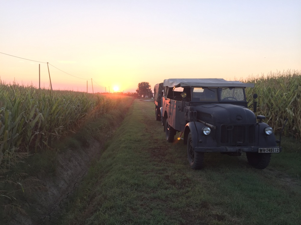Steyr 1500A and the sunset