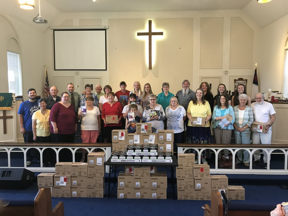 LED Lightbulbs - As a church, we have given away more than 1,500 LED lightbulbs to our community. By doing so we hope to model love of creation, neighbor and God. Contact kbates@wnccumc.net to find out how to replicate this project in your community.Click here to read more about this ministry