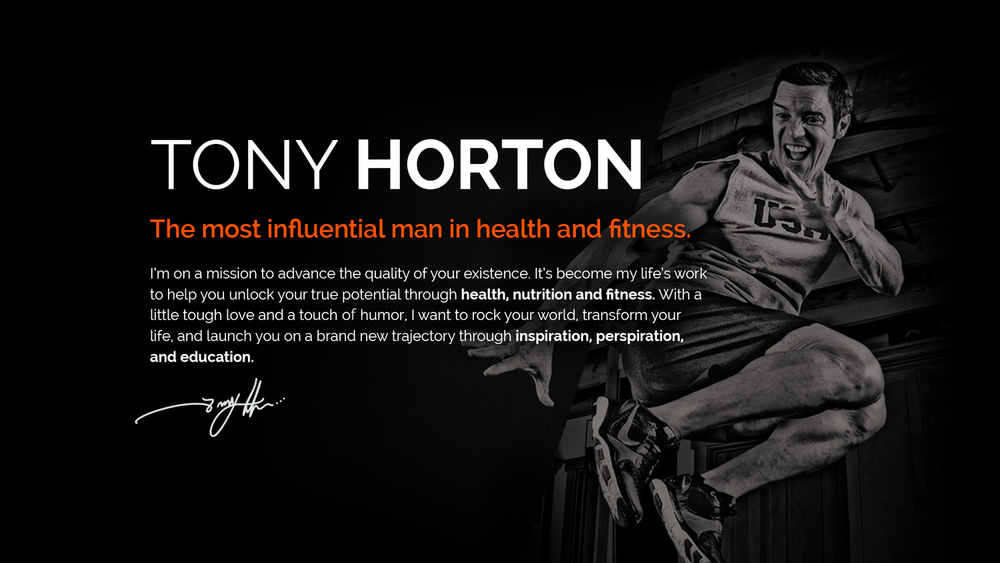 MEET TONY HORTON