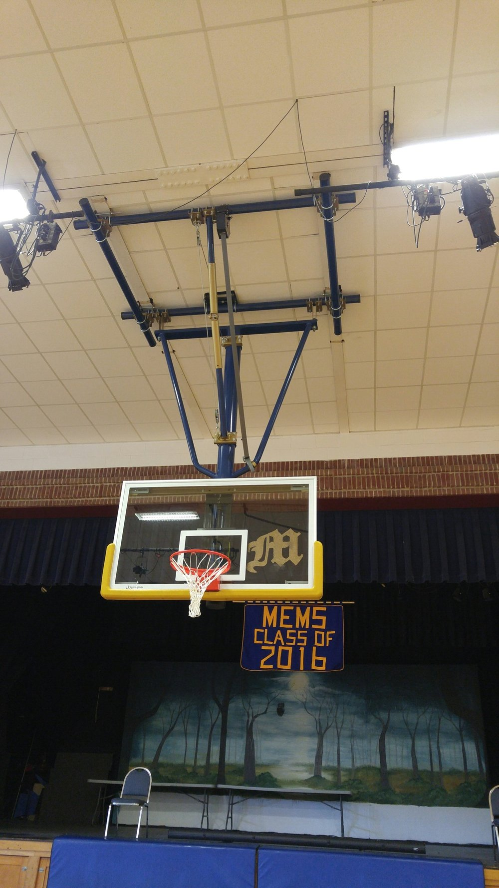 Basketball hoop repair