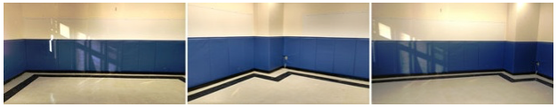 Elementary school in the Newark, NJ area with new safety padding installed