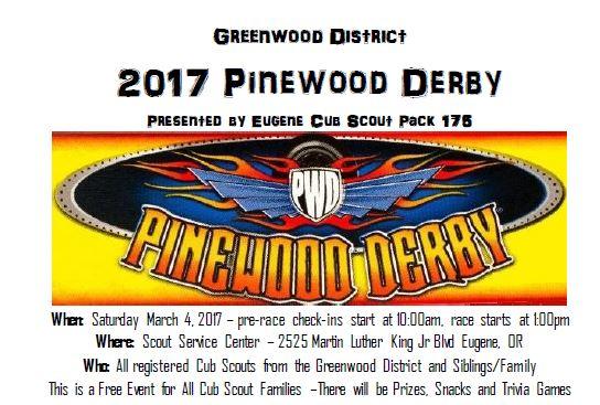 Greenwood Pinewood Derby Oregon Trail Council BSA