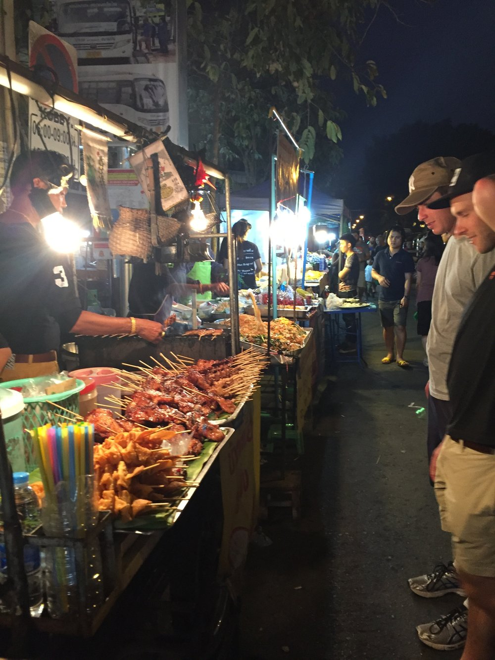 The street markets were full of a huge variety of food options for $1 to $2 dollars a plate.
