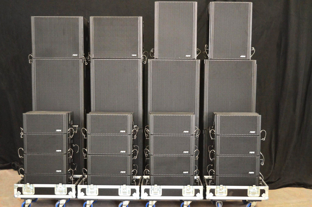 SPEAKERS:  300 boxes in stock from L-Acoustics, Coda Audio, APG, NOVA