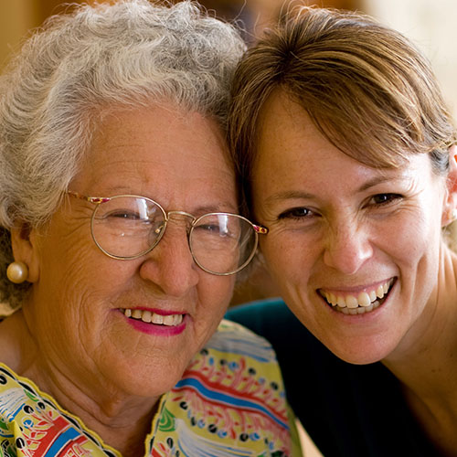 Older Person with Home Care Provider in Oconomowoc, WI - At Your Service, Inc.