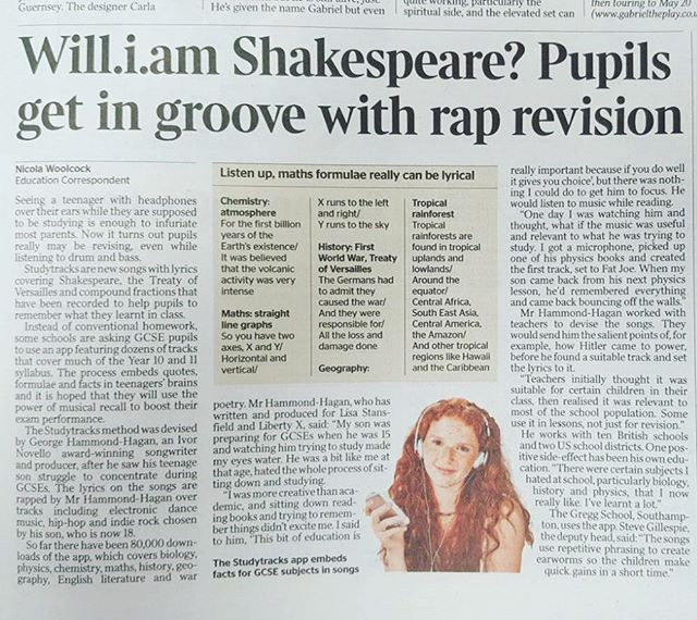 📰 Page 37 of The Times is a good read today 🤓 #studytracks #thetimes #education #shakespeare #studyanywhere #studyeverywhere