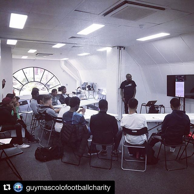 We're down at @guymascolofootballcharity today getting the boys set-up. The charity is doing some fantastic work combining football and education in South London. Massive props 🙌🏽🙌🏽 #studytracks #studyanywhere #studyeverywhere @repostapp ・・・ The @antonio_michail & GMFC Centre boys getting set-up on @studytracks and prepped for GCSE's!! #guymascolofootballcharity #education #gcse #btec #studytracks #doingitfortheyouth