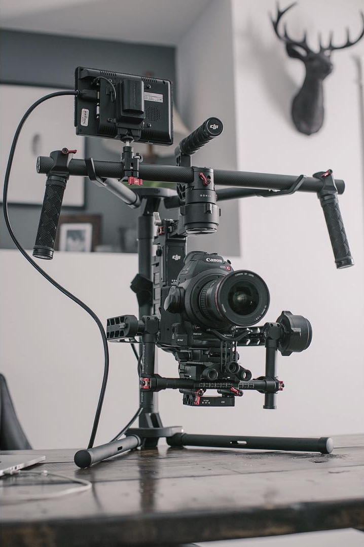 Kyle's DJI Ronin with Canon C100 and 16-35mm f1.2 mounted on it.